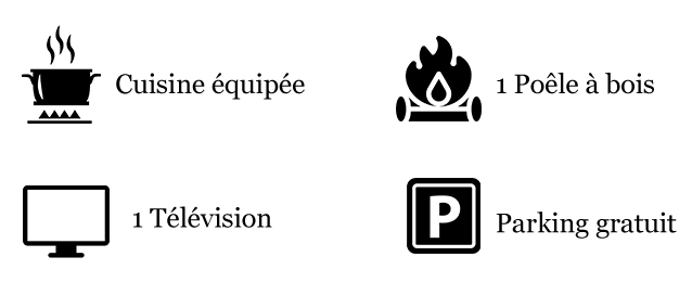 icones équipements gites écologique ria etel morbihan bretagne