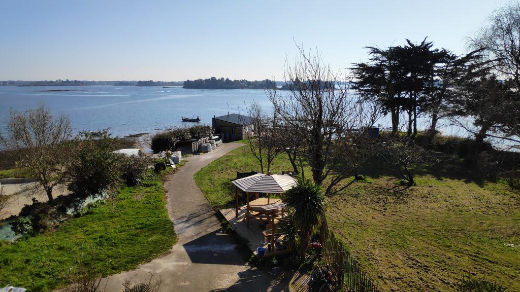 gites écologiques en Bretagne bord de mer morbihan ria étel location